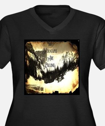 vintage mountains are calling Plus Size T-Shirt