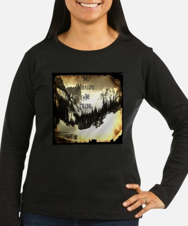 vintage mountains are calling Long Sleeve T-Shirt
