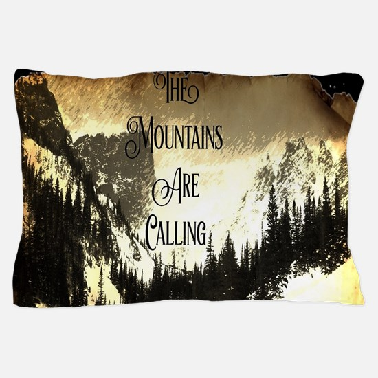 vintage mountains are calling Pillow Case