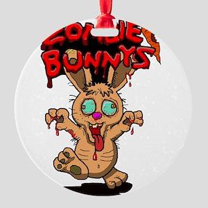 Zombie Bunnys Round Ornament
