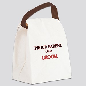 Proud Parent of a Groom Canvas Lunch Bag