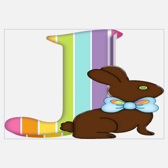Cute Rabbit easter bunny chocolate make mine chocolate Wall Art