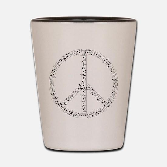Funny Peace love music Shot Glass