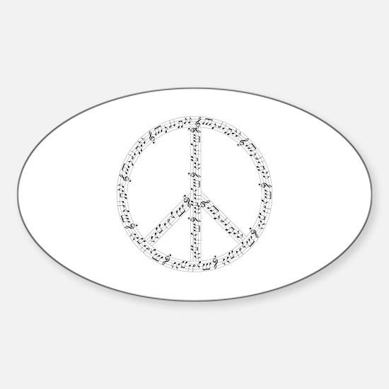 Cute Music Sticker (Oval)