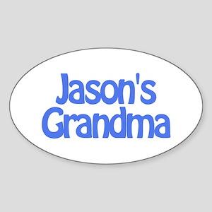 Jason's Grandma Oval Sticker