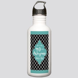Black and Turquoise Mo Stainless Water Bottle 1.0L