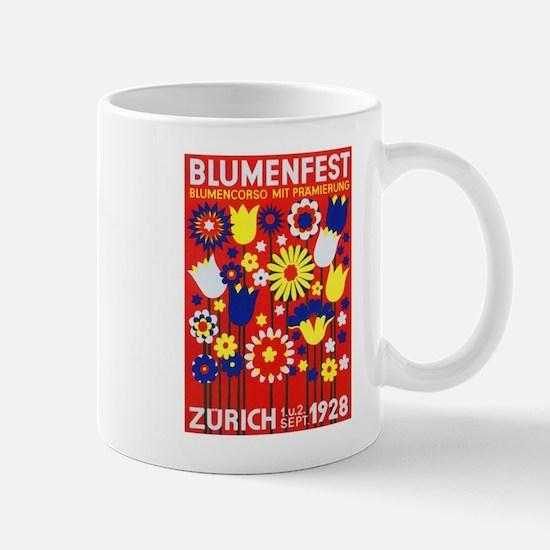 Zurich, Switzerland Flower Festival Vintage P Mugs