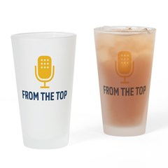 From The Top Logo Drinking Glass