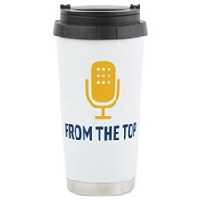 From The Top Logo Stainless Steel Travel Mug