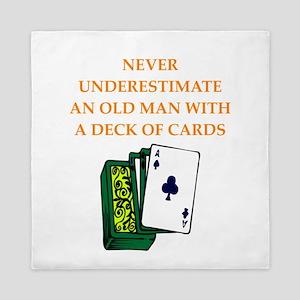 old man Queen Duvet