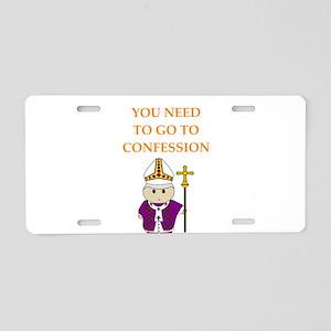 confession Aluminum License Plate