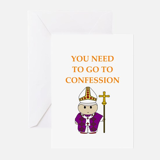 confession Greeting Cards