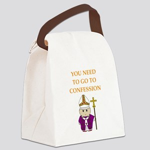 confession Canvas Lunch Bag