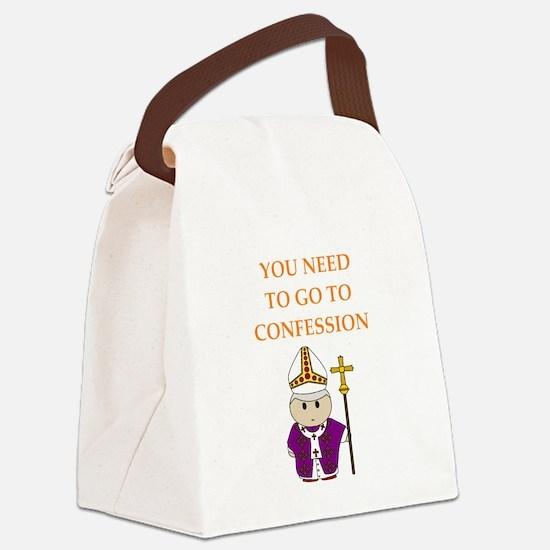 confession Canvas Lunch Bag