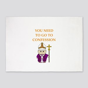confession 5'x7'Area Rug