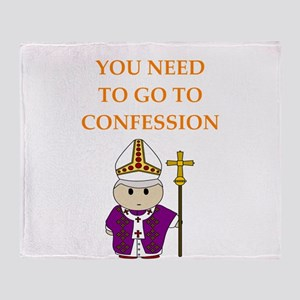 confession Throw Blanket