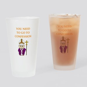 confession Drinking Glass
