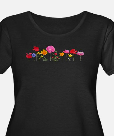 wild meadow flowers Plus Size T-Shirt