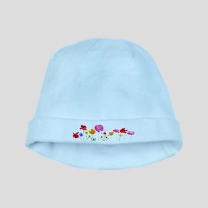 wild meadow flowers baby hat