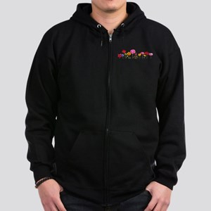 wild meadow flowers Zip Hoodie (dark)