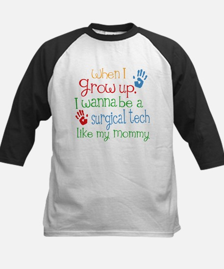 Surgical Tech Like Mommy Kids Baseball Jersey
