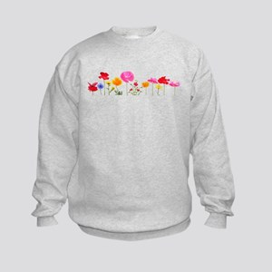 wild meadow flowers Kids Sweatshirt