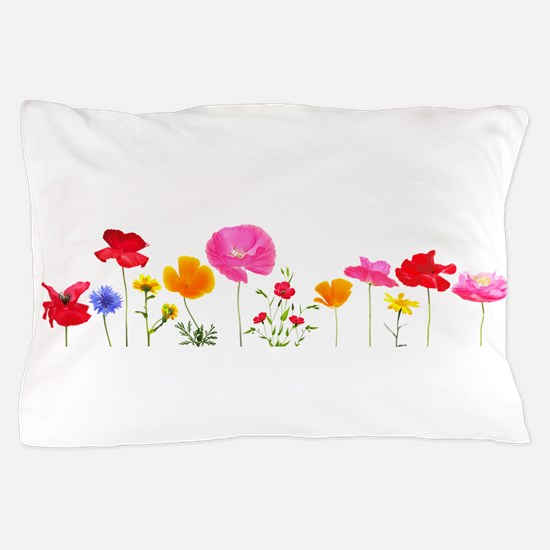 wild meadow flowers Pillow Case