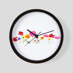 wild meadow flowers Wall Clock