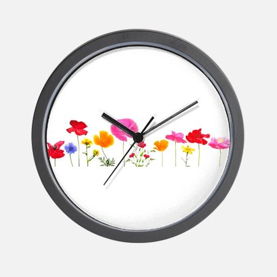 wild meadow flowers Wall Clock