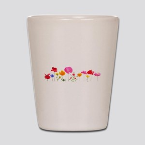 wild meadow flowers Shot Glass