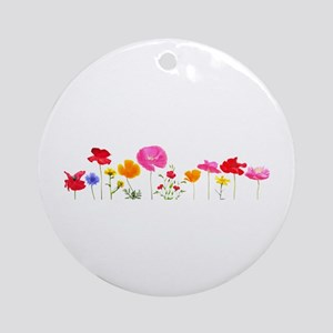 wild meadow flowers Round Ornament