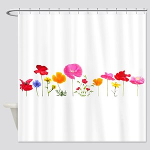wild meadow flowers Shower Curtain