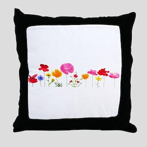 wild meadow flowers Throw Pillow