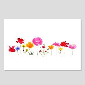 wild meadow flowers Postcards (Package of 8)