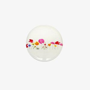 wild meadow flowers Mini Button
