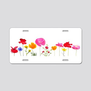 wild meadow flowers Aluminum License Plate