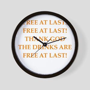 free drinks Wall Clock