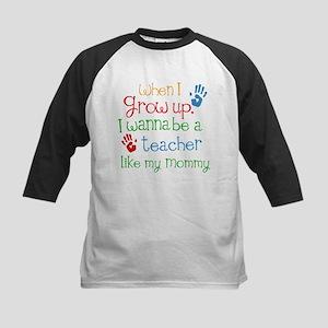 Teacher Like Mommy Kids Baseball Jersey