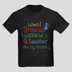 Teacher Like Mommy Kids Dark T-Shirt