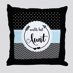 Gifts for Aunt World's Best Chevron D Throw Pillow