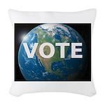 EARTHVOTE Woven Throw Pillow