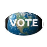 EARTHVOTE 35x21 Oval Wall Decal