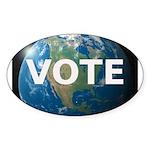 EARTHVOTE Sticker (Oval 50 pk)