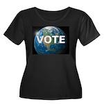 EARTHVOTE Women's Plus Size Scoop Neck Dark T-Shir