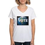 EARTHVOTE Women's V-Neck T-Shirt