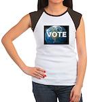 EARTHVOTE Junior's Cap Sleeve T-Shirt
