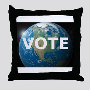 EARTHVOTE Throw Pillow