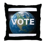 EARTHVOTE Throw Pillow