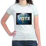 EARTHVOTE Jr. Ringer T-Shirt