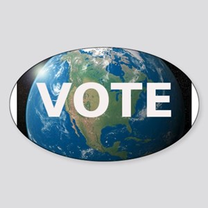 EARTHVOTE Sticker (Oval)